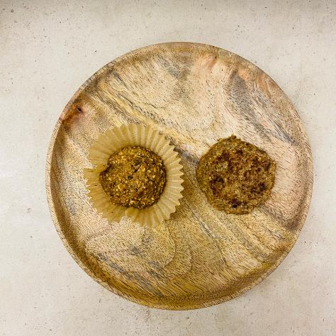Muffins de maça e aveia